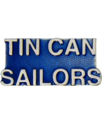 14150 - Tin Can Sailors Script Pin
