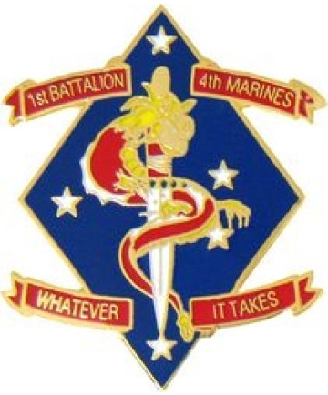 14196 - 1st Battalion 4th Marine Division Pin