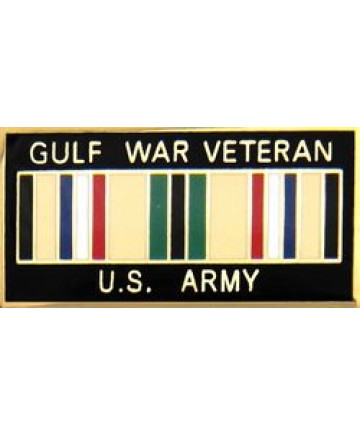 14244 - Gulf War Veteran United States Army with Ribbon Pin