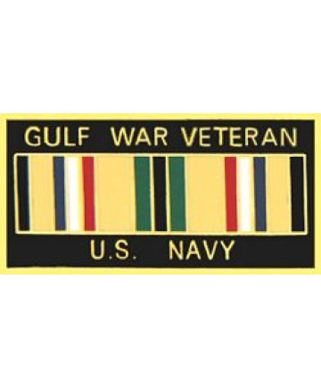 14246 - Gulf War Veteran United States Navy with Ribbon Pin