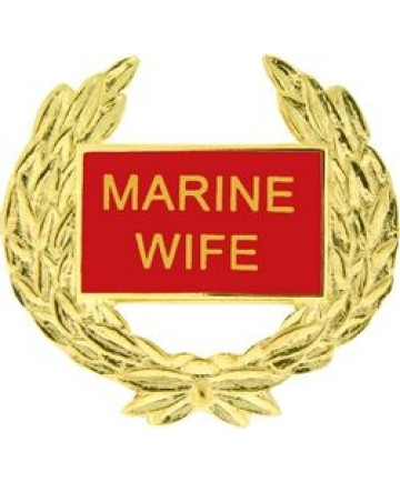 14363 - Marine Wife with Wreath Pin
