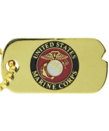 14366 - United States Marine Corps Dog Tag Insignia Pin