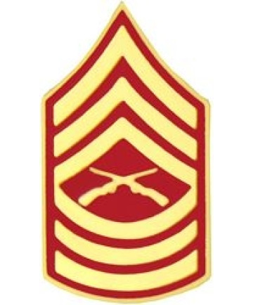 14393 - Marine Corps Master Sergeant (MSgt / E-8) Rank Insignia Pin
