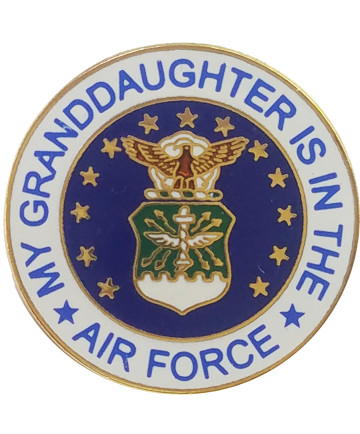 14469 - My Granddaughter Is In The Air Force Emblem Pin
