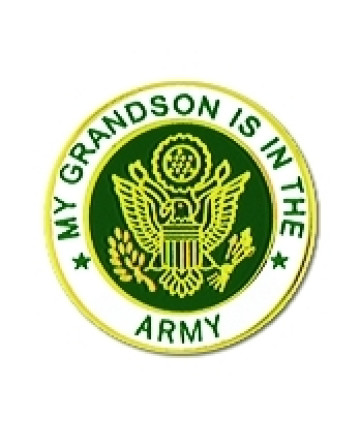 14520 - My Grandson Is In The Army Insignia Pin