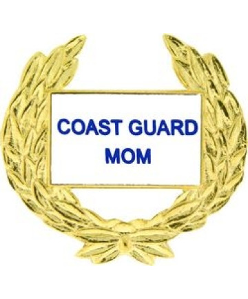 14529 - Coast Guard Mom with Wreath Pin