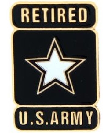 14531 - United States Army Retired with Star Insignia Pin