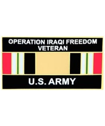 14546 - Operation Iraqi Freedom Veteran United States Army with Ribbon Pin