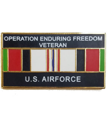 14552 - Operation Enduring Freedom Veteran United States Air Force with Ribbon Pin