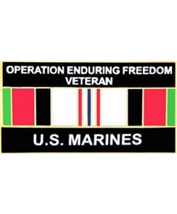 14553 - Operation Enduring Freedom Veteran United States Marine Corps with Ribbon Pin