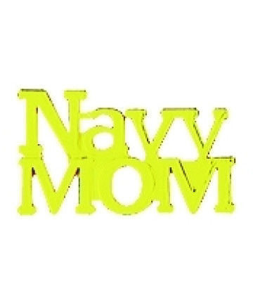 14612 - Navy Mom Script Pin