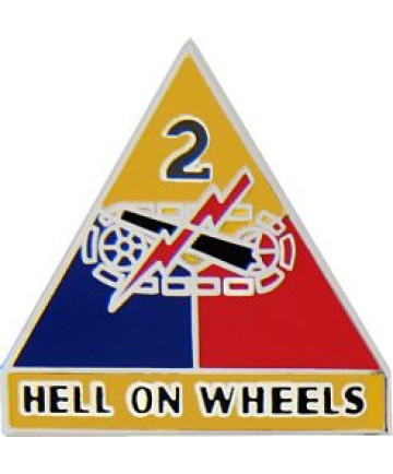 14739 - 2nd Armored Division Hell On Wheels Pin
