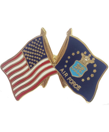 14807 - United States and United States Air Force Emblem Flag Pin