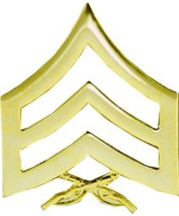 14886GL - United States Marine Corps Sergeant (Sgt) Stripes Pin