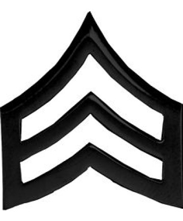 14887BK - Army Sergeant Stripes Pin