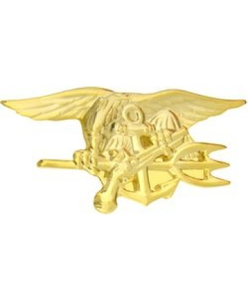15669GL - US Navy Seal Insignia Pin