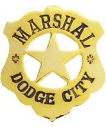 40071GL - Dodge City Marshall Replica Badge