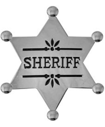 40072ANSI - Sheriff Replica Badge