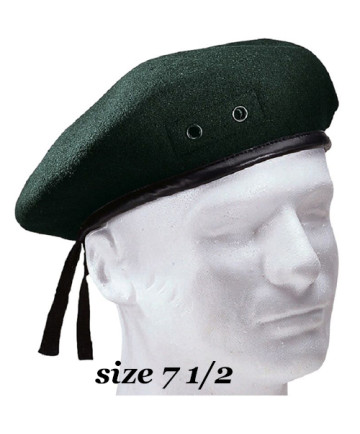 Green Beret size 7 1/2- BR2-712