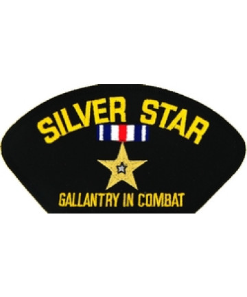 FLB1463 - Silver Star Gallantry in Combat Black Patch