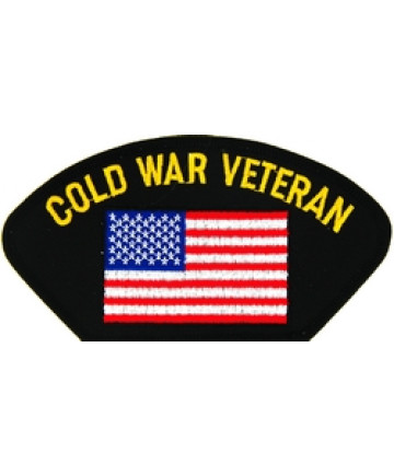 FLB1777 - Cold War Veteran with United States Flag Black Patch