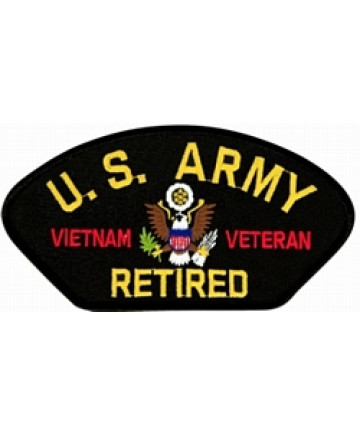 FLB1822 - United States Army Vietnam Veteran Retired Patch