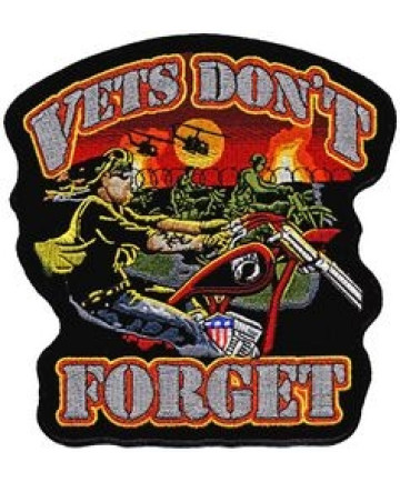"""FLC1857 - Vets Don't Forget Back Patch (4 x 4"""")"""