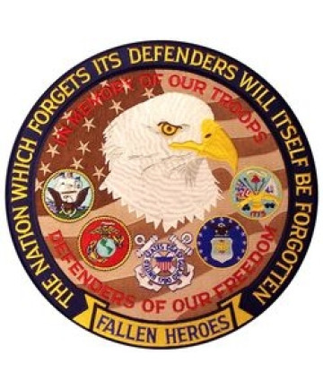 """FLE1679 - Defenders of Our Freedom Fallen Hereos Back Patch (12"""" diameter)"""