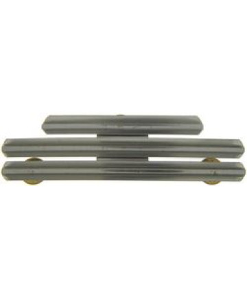 RH808 - 8 Ribbon Bar Holder - 0 Spaced Mount Stainless (Army, Marine Corps, Air Force)