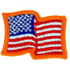 012503 - US FLAG patch  2.75 x 2 sew