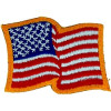 "080107 - Flag Patch Wavy 2.75 x 2"" Sew Only"