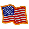 091203 - Flag Patch Wavy Sew On 3.75 x3""