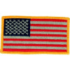 "091204 - Flag Patch khaki/ 4 x 2.1/8"" (sew on)"