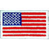 "091208 - US Flag Patch  3 1/8 x 1 3/4"" Sew  White edge"