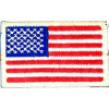 "091302 - US Flag 3 1/8 x 1 7/8"" sew on"
