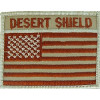 "091310 - Desert Shield US Flag 3.25 x 1.75"" (sew on)"