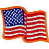 091401 - US Flag Wavy 3.75 x 3 (sew on)