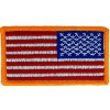 "091411 - US Flag left 3 1/8 x 1 3/4"" SEW ONLY"