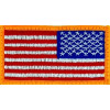 091501 - US Flag Left shldr 3.25 x 1.75 Velcro back