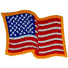 "091502 - US Flag Patch 3 1/2 x 3"" (sew only)"