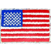 091507 - US Flag 3 1/4 x 1 7/8 (sew on)