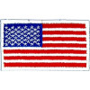 091508 - US Flag 3 1/4 x 1 7/8 (sew on)