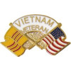 14114 - Vietnam & US Crossed Flags Vietnam Veteran Pin
