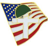 14125 - Memorial Cross and United States Flag Pin