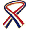 14227 - Red White & Blue Ribbon Pin