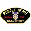 14310 - Korean War Combat Wounded Purple Heart Pin