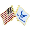 14320 - United States and United States Air Force Symbol Flag Pin
