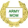 14356 - Army Mom with Wreath Pin