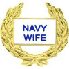 14359 - Navy Wife with Wreath Pin