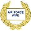 14361 - United States Air Force Wife with Wreath Pin